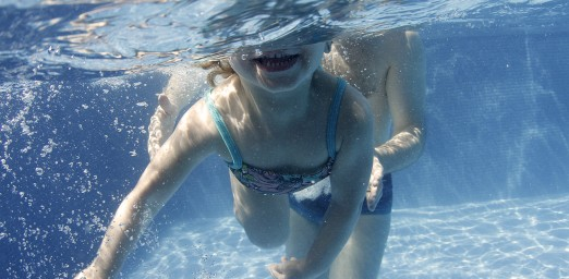 Baby underwater